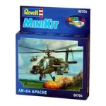 Mini Kit Revell Helicoptero Apache Ah-64 1/200 - 06704