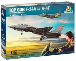 Kit Montar Italeri Jatos F-14a Vs A-4f Top Gun 1/72 - 1422