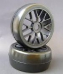 Par Roda e Pneu Sintec Mod. BBS e Pneu Slick p/ On Road 12mm - S045