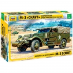 Kit Montar Zvezda Blindado M-3 Scout Armored Car - 3581