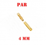 Conector Plug Bullet Gold 4mm