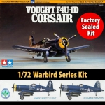 Kit Tamiya Corsair F4u-1d Vought War Bird Ww2 1/72 - 60752