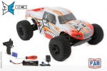 Automodelo Elétrico ECX Escala 1/10 AMP 2WD Monster Truck RTR White/Orange
