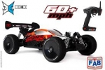 Automodelo Elétrico Escala 1/8 ECX Revenge Type e 4WD Brushless Buggy RTR, Red/Black