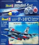 Kit Revell Model Set Caça F-16c Falcon Usaf 1/144 - 63992