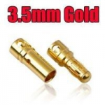 Conector Bullet Gold 3,5mm - par