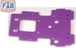 HPI 86067 - BULKHEAD LOWER PLATE 2.5MM PURPLE SAVAGE 21