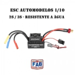 Esc Automodelo 1/10 Brushless Waterproof 60a 2s e 3s