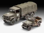 Kit Revell Caminhão M34 + Jeep Willys 1/35 Us Army - 03260