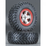 TRAX 5873 - Traxxas tires/wheels assembled rear Slash (2)