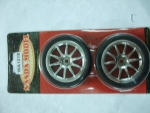 Roda/Pneu 1/10 Auto - x/chrome 10 - spoke glued Tires