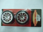 Roda/Pneu 1/10 Drifter/ chrome 10 - spoke glued Tires