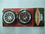 Roda/Pneu 1/10 Drifter/ chrome Y - spoke glued Tires