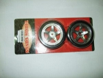 Roda/Pneu 1/10 Viktor/chrome 5 - spoke glued Tires