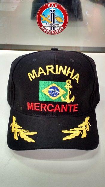Boné Marinha Mercante Brasil. Carregando imagem! 861676e649b